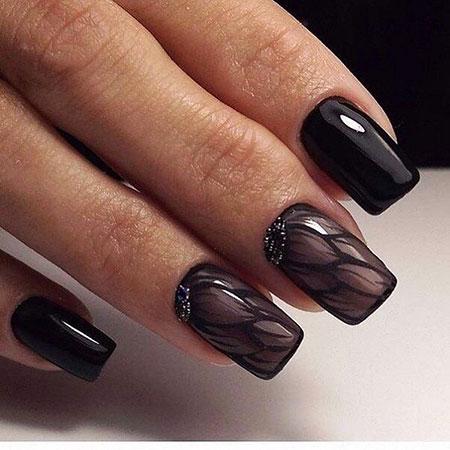 Black Nail Matte Nails