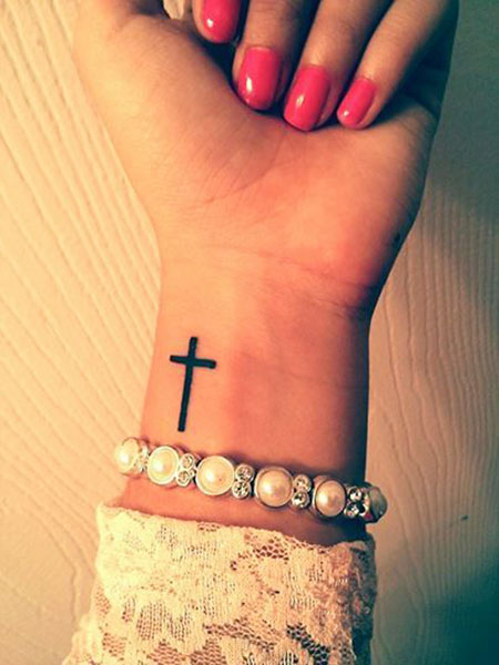 Wrist Cross Small Tattoo