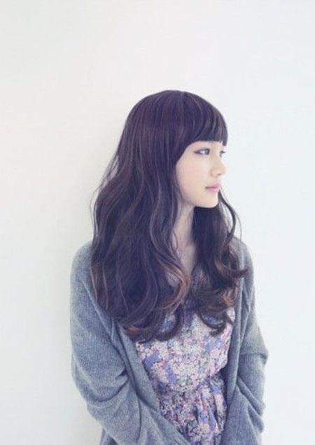 Hair Bangs Brown Ombre