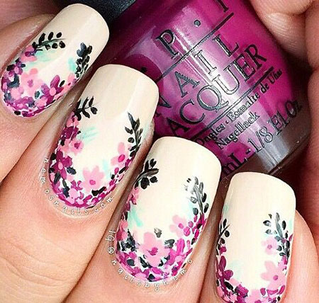 Nail Floral Flowers Designs
