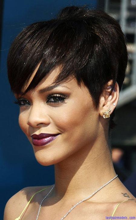 Short Hair Rihanna Styles