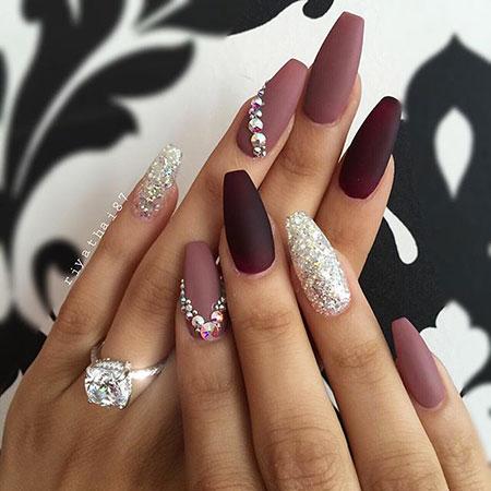 Nail Art with Glittered Rhinestones, Nail Nails Designs Art