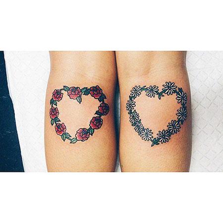 Cute Flowers in Heart Shape Tattoo, Tattoos Tattoo Heart 5