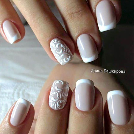 French Manicure for Brides, Manicure Nail Nails Wedding