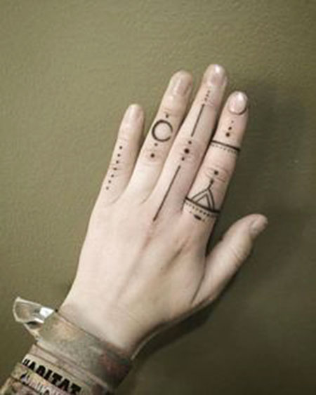 Trendy Hand - Finger Tattoo, Finger Hand Henna Mehndi
