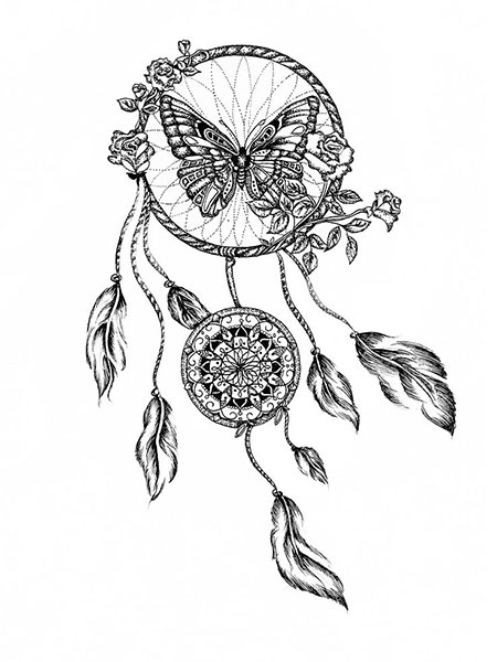 Easy Indian Dream Catcher Tattoo, Dream Tattoo Catcher Mandala