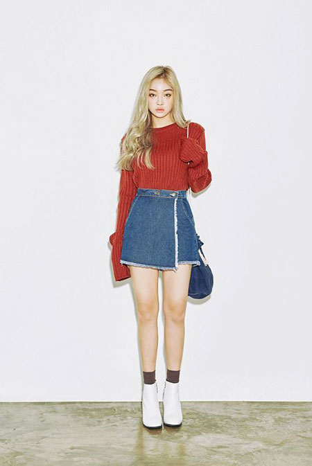 Denim Skirt Outfit, Fashion Korean Dresses Zara