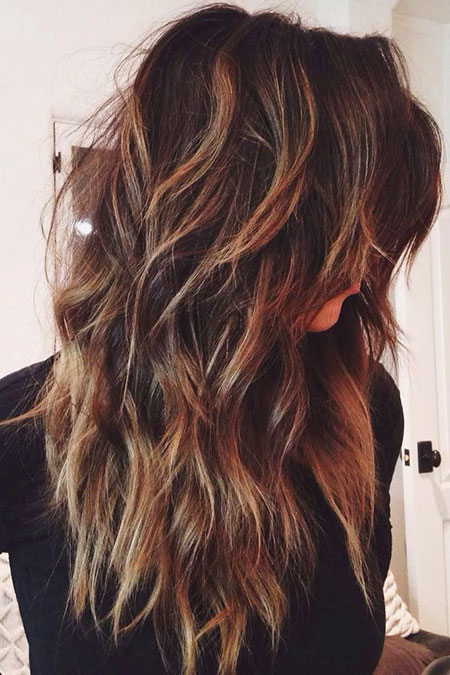 Long Chunky Layered Hairtyle, Hair Layered Long Highlights