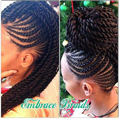 Mohawk Braids, Twist Mohawk Braid Flat