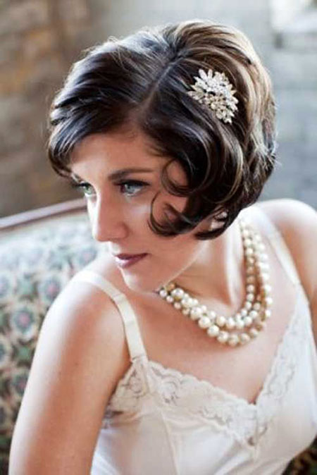 Short Bob Updo Hairtyle, Wedding Hair Short Hairtyles