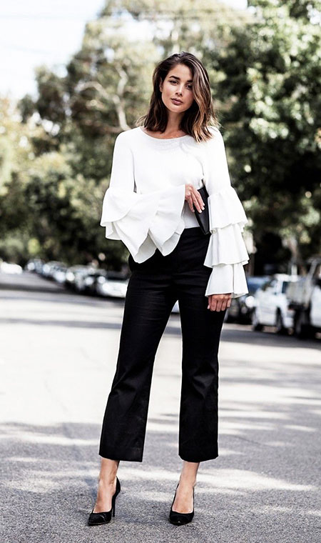 Every-Day Street Style Outfit Idea, Style White Black Jet