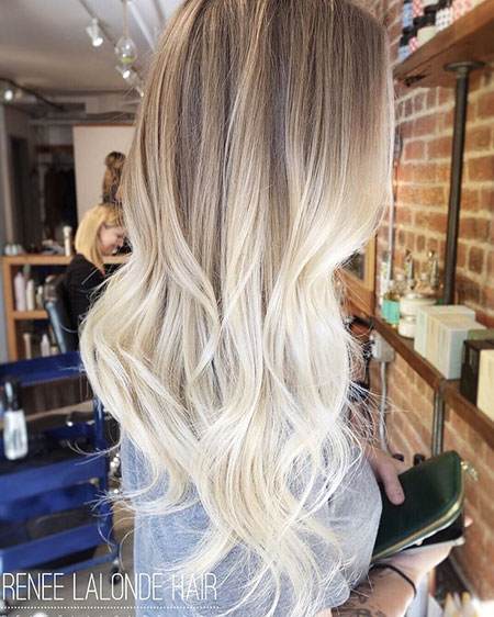 Platinum Blonde Ombre, Blonde Hair Balayage Long