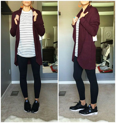Every-Day Style Black Leggings Outfit, Outfits Casual Fashion Winter