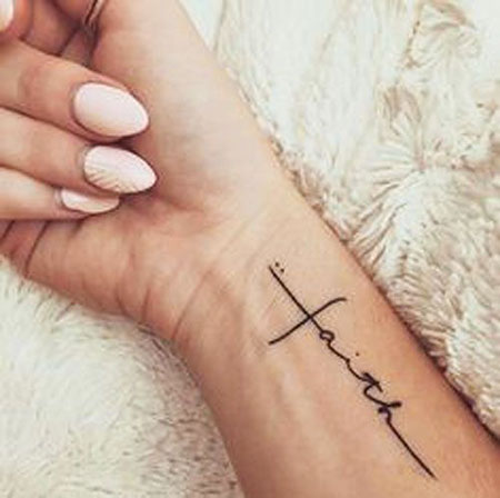 Small Cross Tattoo on Wrist, Tattoo Women Quotes Photos