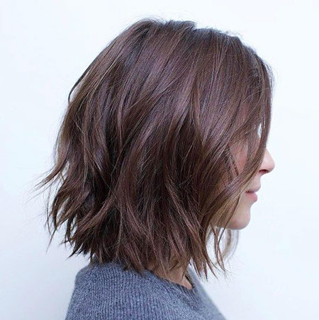 Cute Messy Bob, Length Bob Choppy Messy