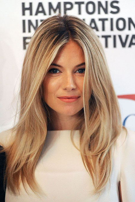 Sienna Miller Long Hair, Hair Blonde Color Sienna