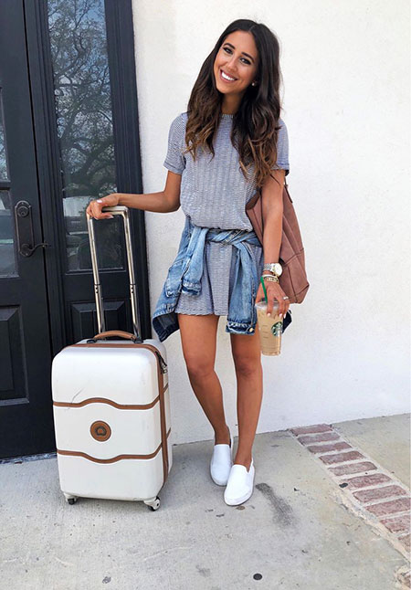 Casual Summer Style Outfit for Travel, Outfits Fashion Summer Style