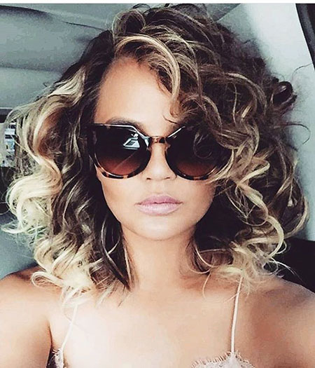 Haircut for Curly Hair, Hair Curly Celebrity Teigen