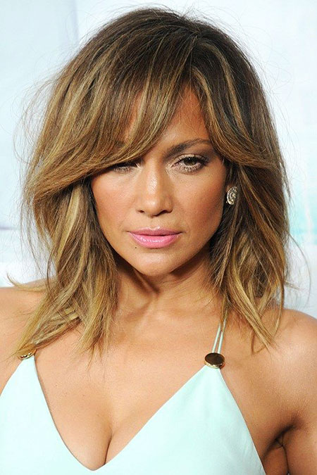 Jennifer Lopez Blonde Bob Hair, Hair Jennifer Lopez Layered