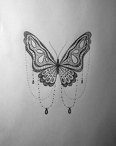 Lace Butterfly Tattoo, Butterfly Tattoo Lace Coloring