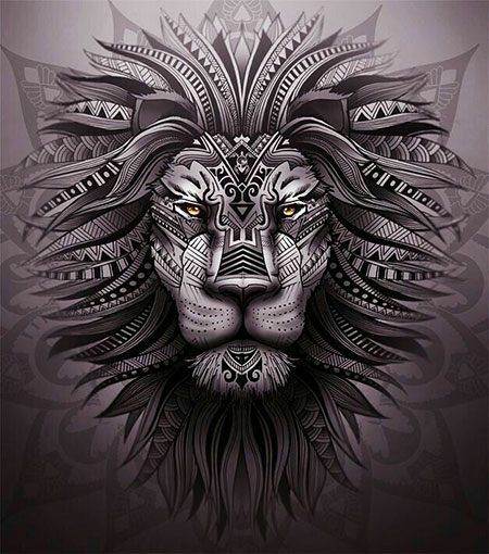 Cool Lion Tatt, Art Lion Tattoo Skull