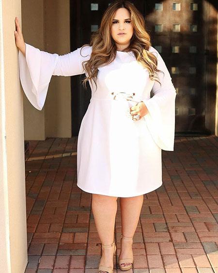 Cute Dress Outfit Idea for Plus Size Women, Fashion Plus Women Spring