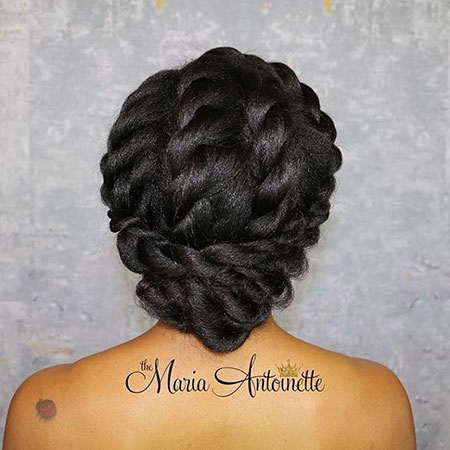 Natural Wedding Hairtyle, Protective Wedding Natural Hair