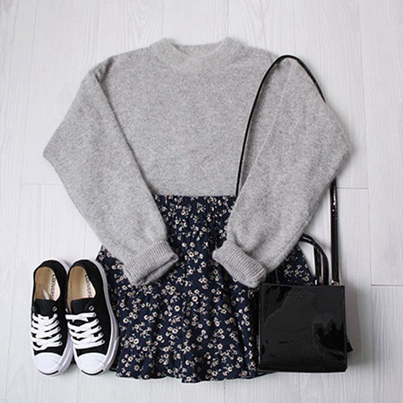 Daily Style Casual Outfit, Fashion Casual Cotton Side