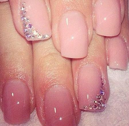 Nude Pink Colored, Nails Nail Wedding Pink