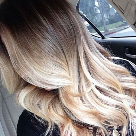 Pale Colored Ombre Style, Blonde Hair Balayage Color
