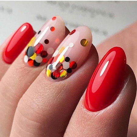 Red Short Nail Art, Nail Nails Designs Art