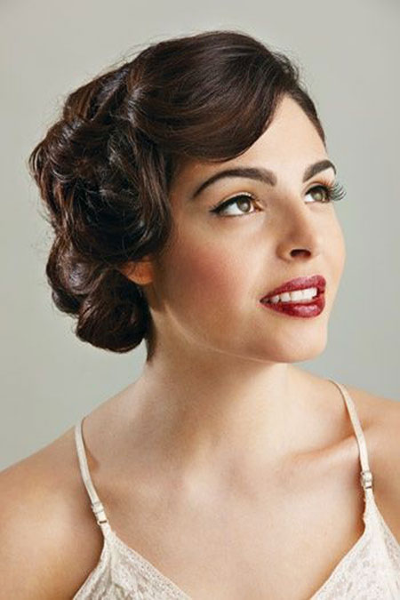 Retro Short Wedding Up Do, Hair Retro Hairtyles Short