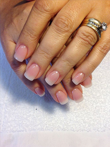 Short Cute Nail Design, Acrylic Natural Manicure 681