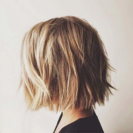 Choppy Haircut for Women, Bob Hair Shaggy Thick