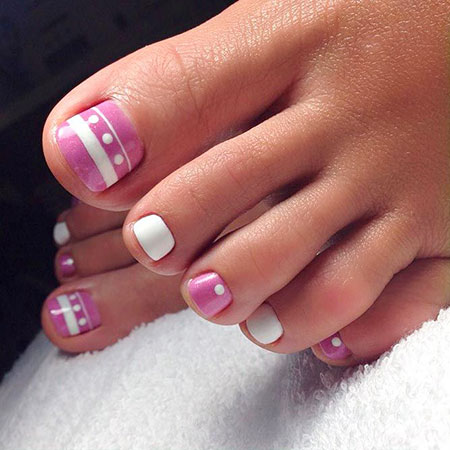 French Toes Nails, Nail Manicure Toe Designs