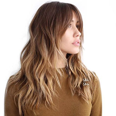 Long Wavy Hair with Layers, Hair Balayage Blonde Ombre
