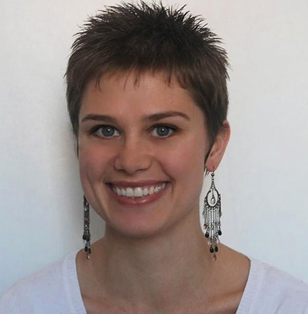 Womens Short Spiky Haircut, Short Pixie Bieber Justin