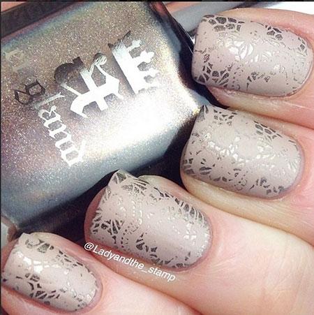 Modern Short Nail Art, Nail Pretty Polish Lace