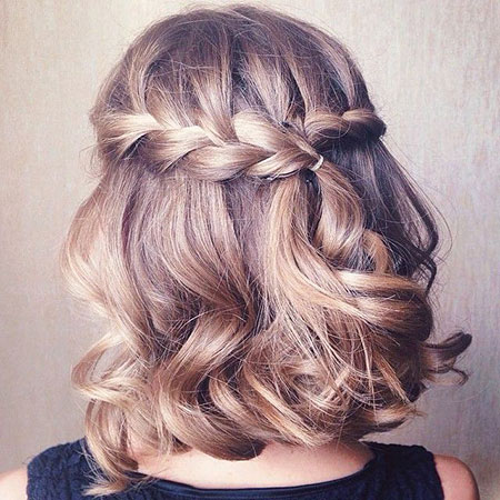Cute Braided Half Up, Hair Short Braids Hairtyles