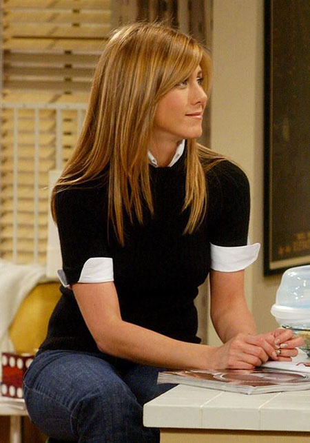 Jennifer Aniston Long Hair on Friends, Hair Rachel Aniston Jennifer