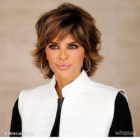 Lisa Rinna Layered Short Hair, Shag Short Hairtyles Lisa