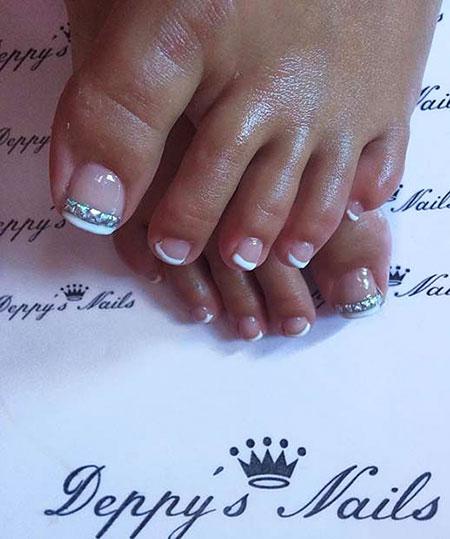 Chic French Toe Nail Art, Nail Toe Nails Chic