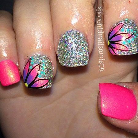 Floral Nail Art, Nail Designs Art Cute