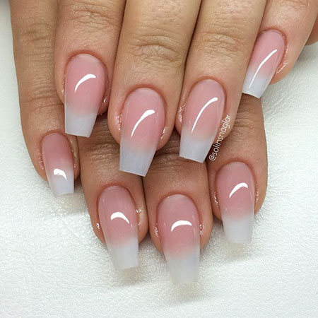 Natural Long Coffin Nails, Nails Coffin Natural Nail