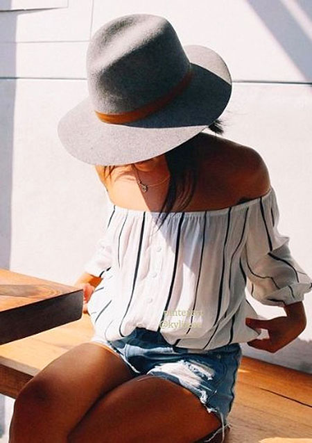 Off the Shoulder Style, Summer Loose 40 Women