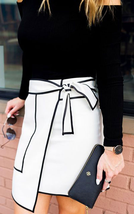 Black and White Winter Outfit, Black Fashion Fun White