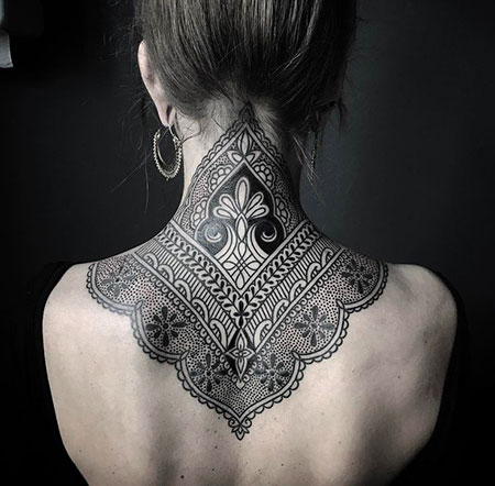 Tattoo Neck Henna Back