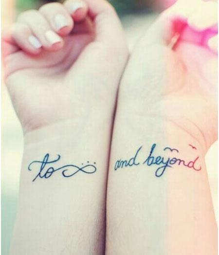 Tattoos Infinity Couple Lady