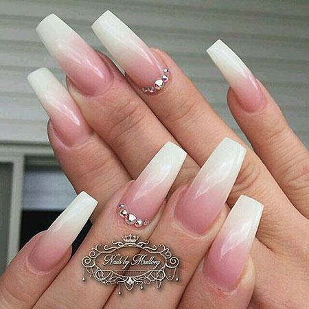 Nails Nail Coffin Bridal