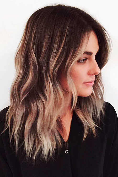 Balayage Hair Medium Layered